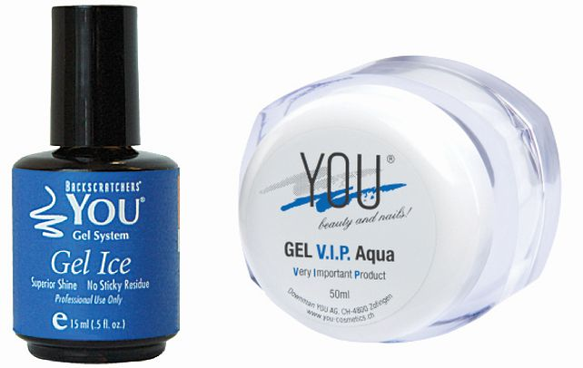 """<p><a href=""""http://www.backscratchers.com/"""">Backscratchers</a> YOU Gel Ice is a one-step gel top coat that doesn&rsquo;t leave a tacky layer. YOU Gel Ice is a high-gloss hard gel product that can be used on artificial enhancements or with polish.</p>"""