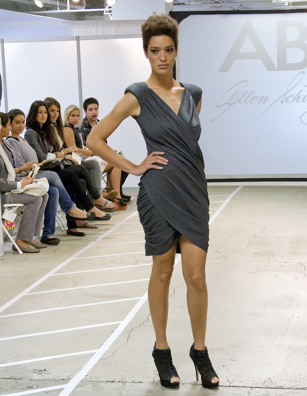 <p>During the Contemporary Collections Runway Show during LA Fashion Market at the California Market Center, manicurists Kimmie Kyees and Melanie McCulley applied <strong>Gelish</strong> in Desert Sand, Tassles, and Simply Sheer. (Photography courtesy of&nbsp;California  Market Center)</p>