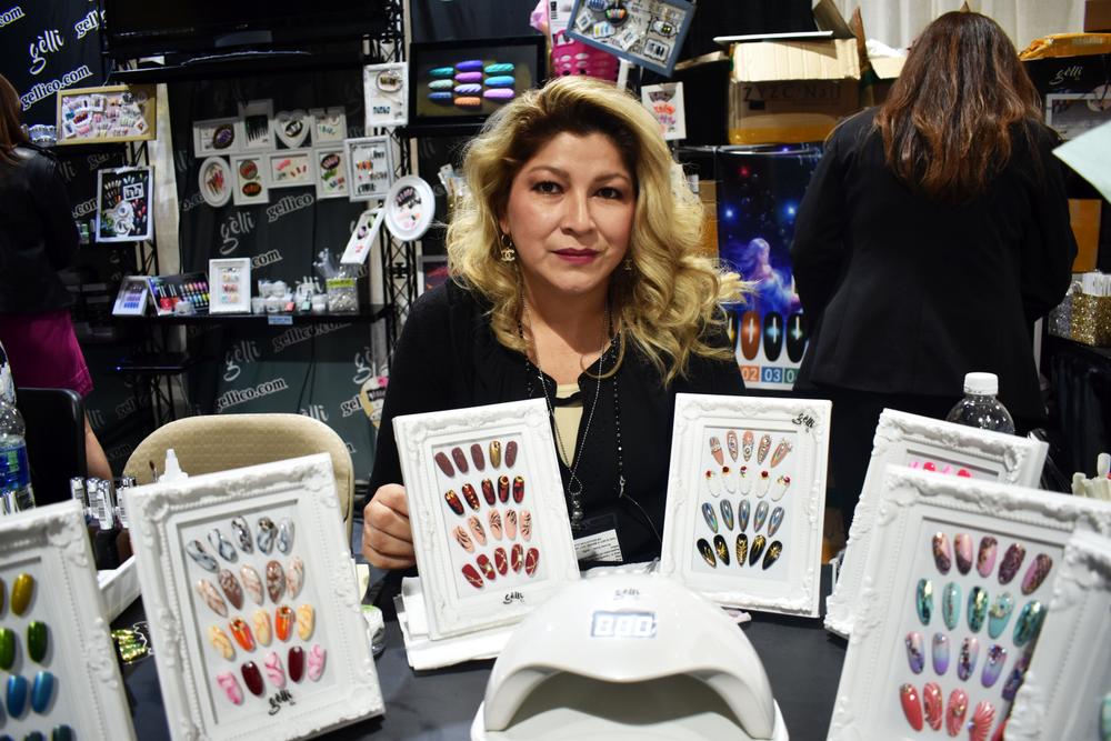 <p>Gelli Co. displayed lots of nail art</p>