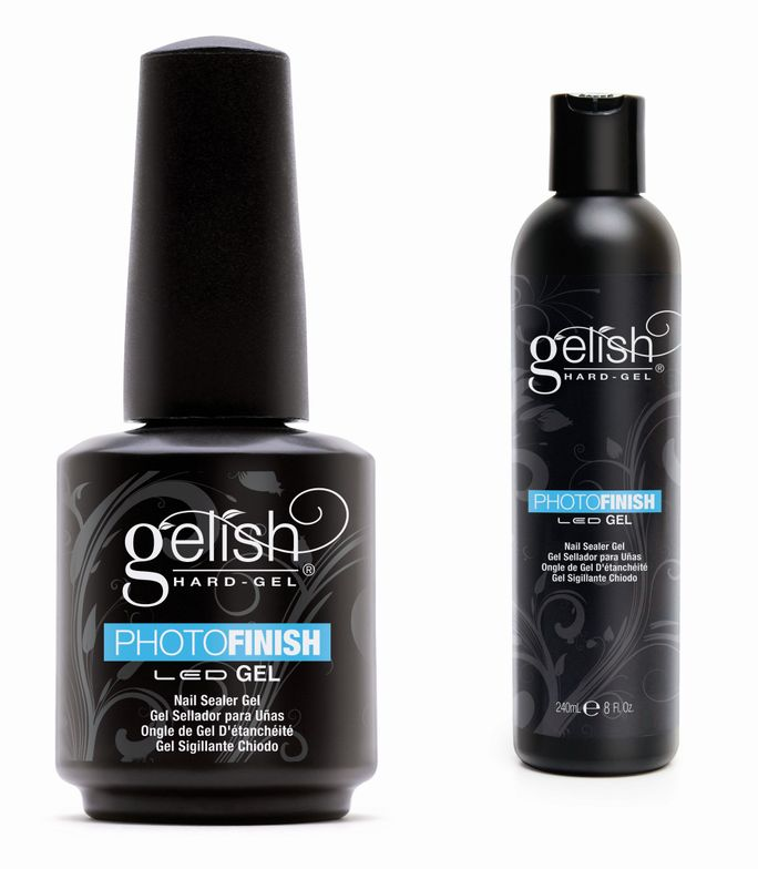 "<p><a href=""http://gelish.com/"">Gelish</a> hard gel PhotoFinish builds and creates a beautiful, flawless shine on any Gelish application. Use PhotoFinish as an overlay on top of the natural nail or as a finishing sealer. This superior shine will leave your nails photo-ready every time.</p>"