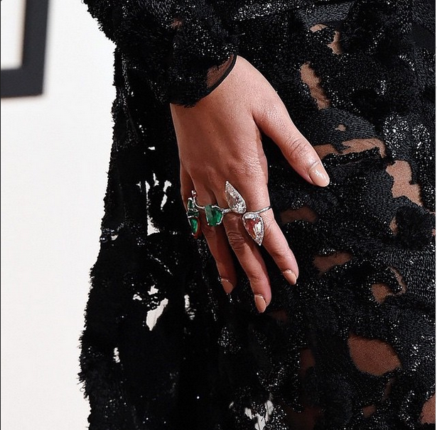 <p>Beyonce's nude nails by Lisa Logan were the perfect nude for the Grammys. Logan used Formula X Nail from Sephora. Image via @lisa_logan.</p>