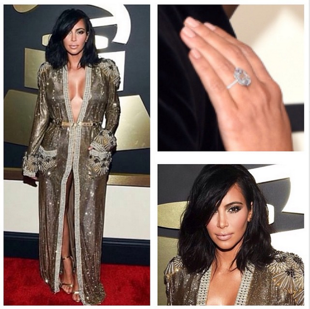 <p>Tom Bachik was inspired by the '70s to custom blend a nude nail for Kim Kardashian West to wear to the Grammys. Image via @tombachik</p>
