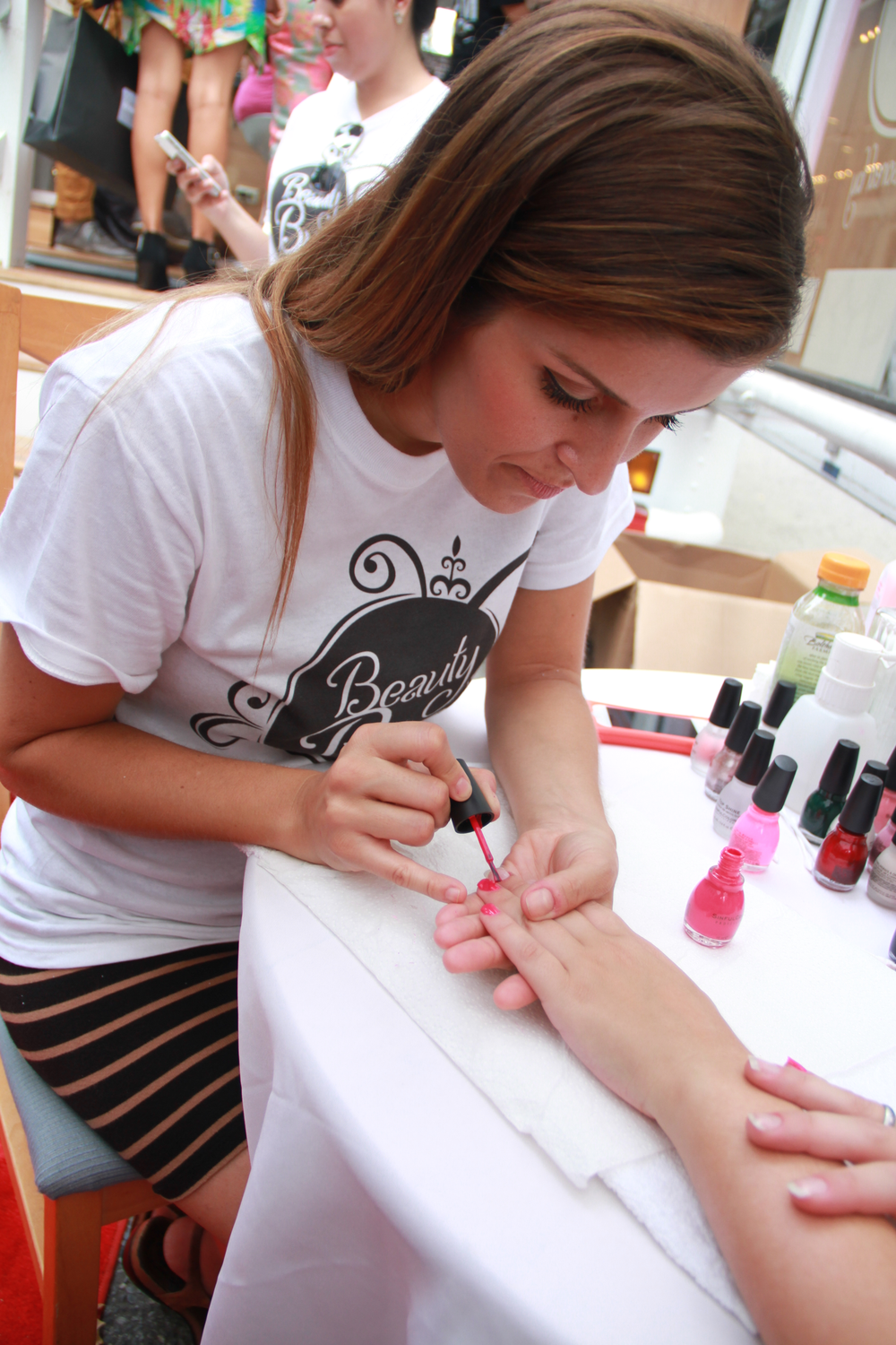 <p>The Hair Room Service Beauty Bus brought trends from the runways to the streets during NYFW using <strong>Sinful Colors</strong>.</p>