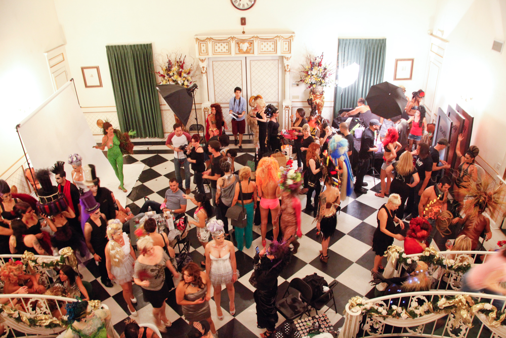 <p>Behind the scenes before showtime at the Hartland Mansion in Las Vegas. Six salon teams competed for the regional title of Supreme Salon.</p>