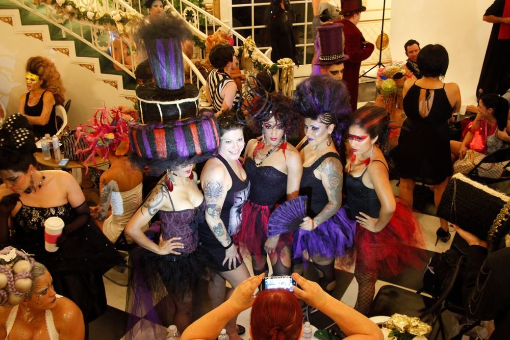 <p>Other teams took different approaches to their themes. Pictured are a few models from Platinum Hair Studio who took third place.</p>