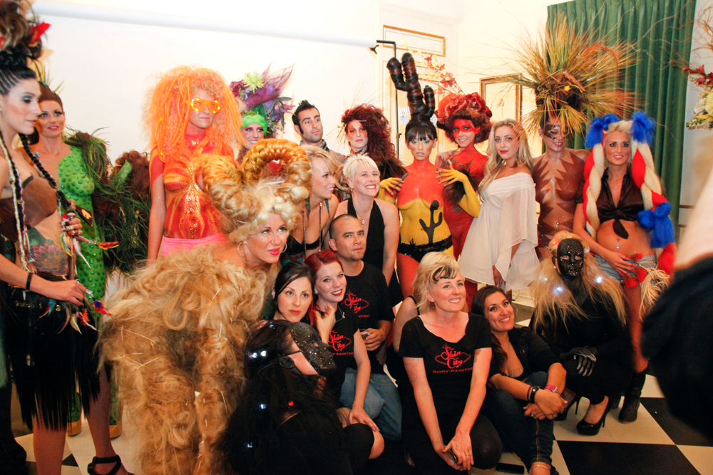 <p>Team Headliners Salon placed second in the regional Hair Wars competition set in Las Vegas. Tzigane Osborne had the help of Casey Burtenshaw, Sarah Hammond, Kristina Marzola, and Kaitlin Gretches for the fantasy hairstyles, with nails by Joy Yavenue and make-up from Skin City Body Painting's Nicole Smoleyak, Jessica Westrum, Leticia, and Steven Harlock.</p> <p>&nbsp;</p>