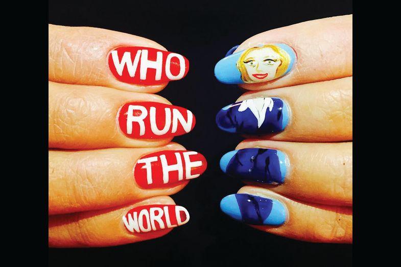 "<p>Hillary Clinton nails by Mei Kawajiri, New York City<br /><a href=""http://www.instagram.com/ciaomanhattan2012"">@ciaomanhattan2012</a></p>"