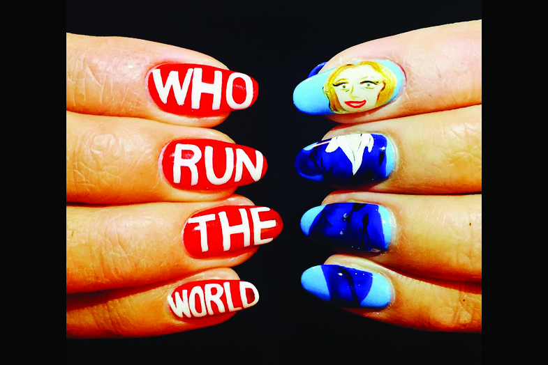 "<p>Hillary Clinton nails by Mei Kawajiri, New York City<br /><a href=""http://www.instagram.com/ciaomanhattan2012"">@ciaomanhattan2012</a></p>"