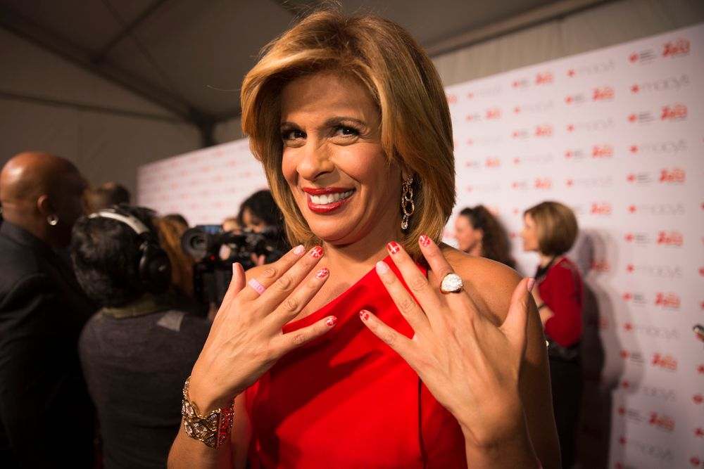 <p>Hoda Kotb in Jamberry at the Red Dress Collection runway show.</p>