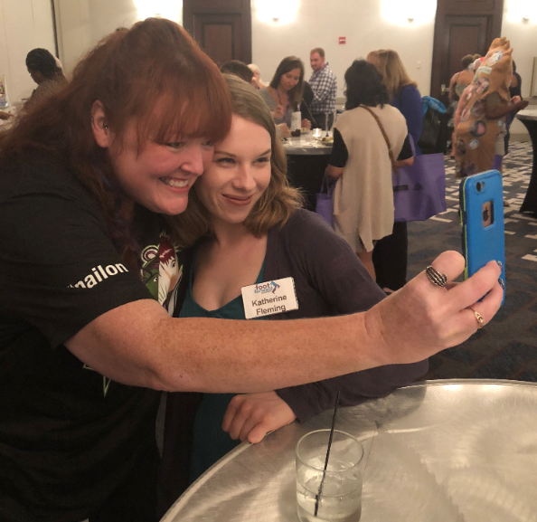 <p>Holly Schippers posted to social media throughout the Summit, taking selfies with as many attendees as possible, including the NAILS staff.</p>