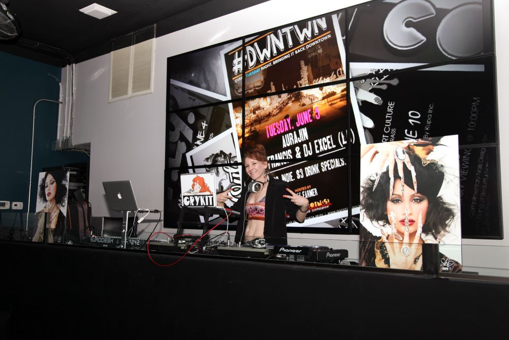 "<p>Manicures and nail art were accompanied by live beats from <a href=""http://www.digitalmusicinc.net/#/ARTISTS/CRYKIT"">DJ CRYKIT</a> (pictured here) and <a href=""http://iamdj88.tumblr.com"">DJ88</a>, whose nails are featured in the documentary trailer.</p>"