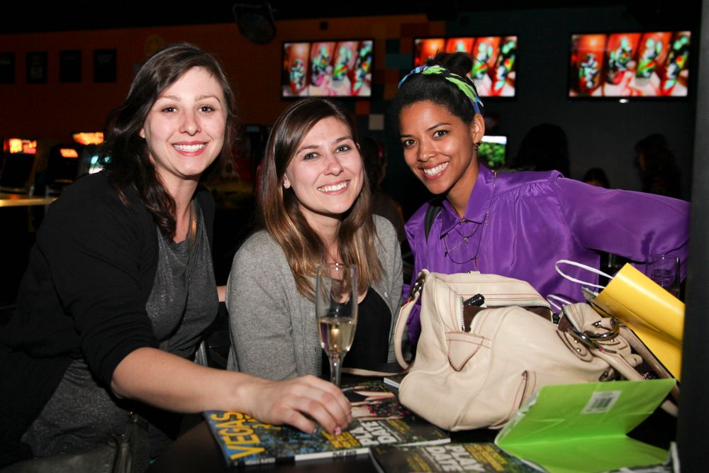 "<p><a href=""http://www.heynicenails.com/"">Hey, Nice Nails!</a> artists/bloggers/sisters Ginny and Donne Geer came out to support <a href=""http://nailgasmdoc.tumblr.com"">Brass</a>' nail art documentary. The Geer sisters were interviewed for Brass' documentary, <a href=""http://www.nailsmag.com/video/94752/NAILgasm-Documentary-Trailer""> NAILgasm</a>.</p>"