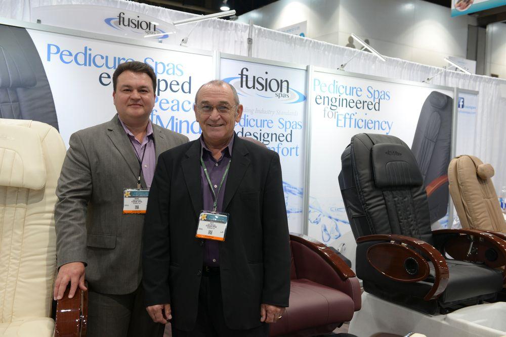 <p>Fusion Spas' Jeff Drozdov and Gene Drozdov</p>