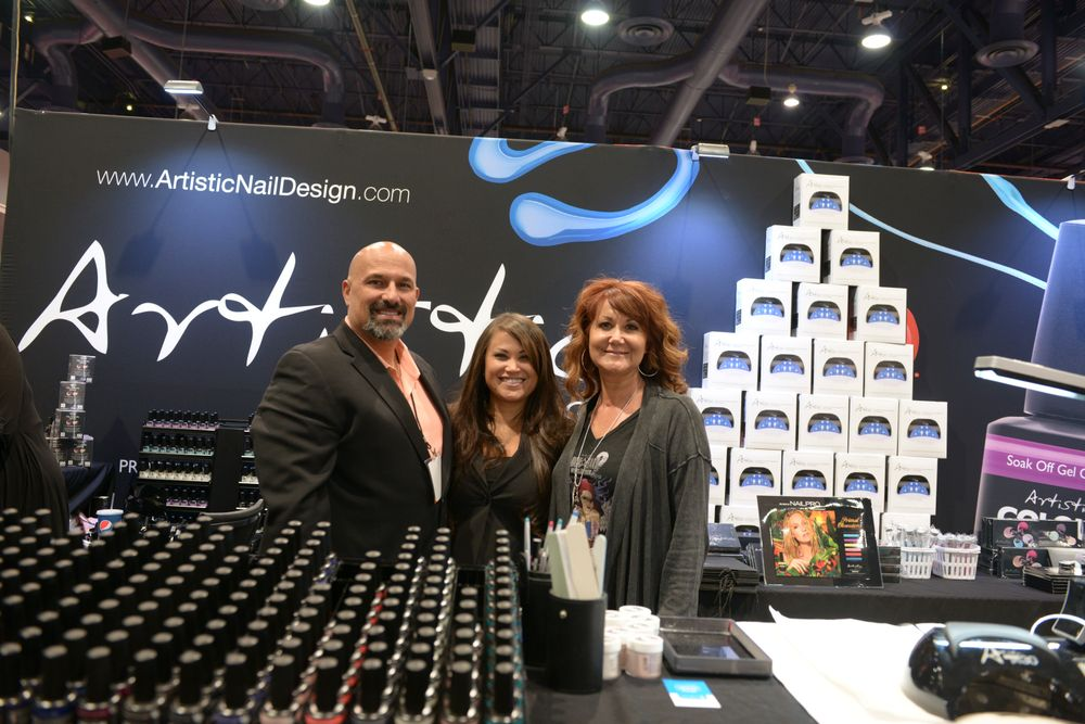 <p>Artistic Nail Design's Shawn Sellers, Alisha Rimando, and Lisa Boone</p>
