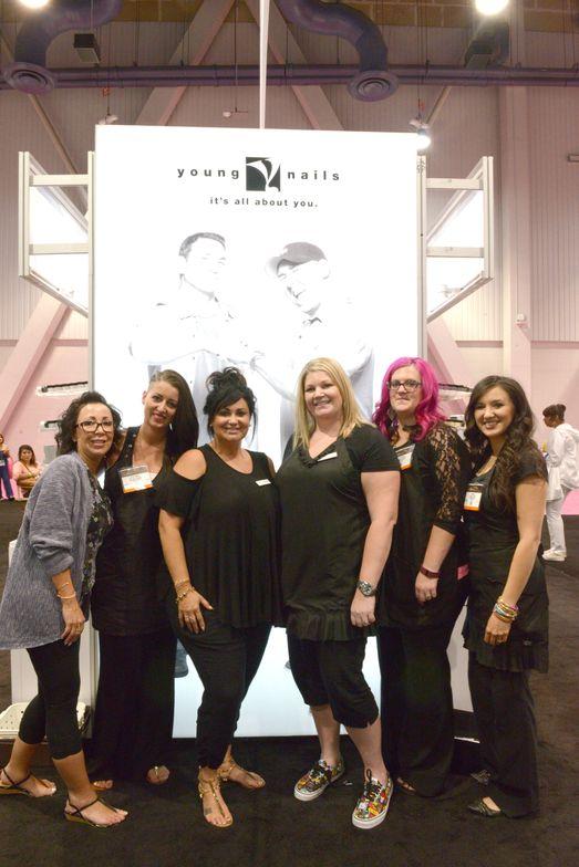 <p>Young Nails' Pathy Caresosa, Stephanie Foontain, Melissa Delacruz, Lauren Denney, Breeann Christesen, Andrea Pettingill</p>