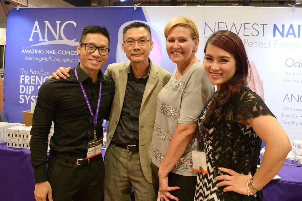 <p>Amazing Nail Concepts' Ricky Huynh, Eric Huynh, Vicki Jensen, and Nancy Tran</p>
