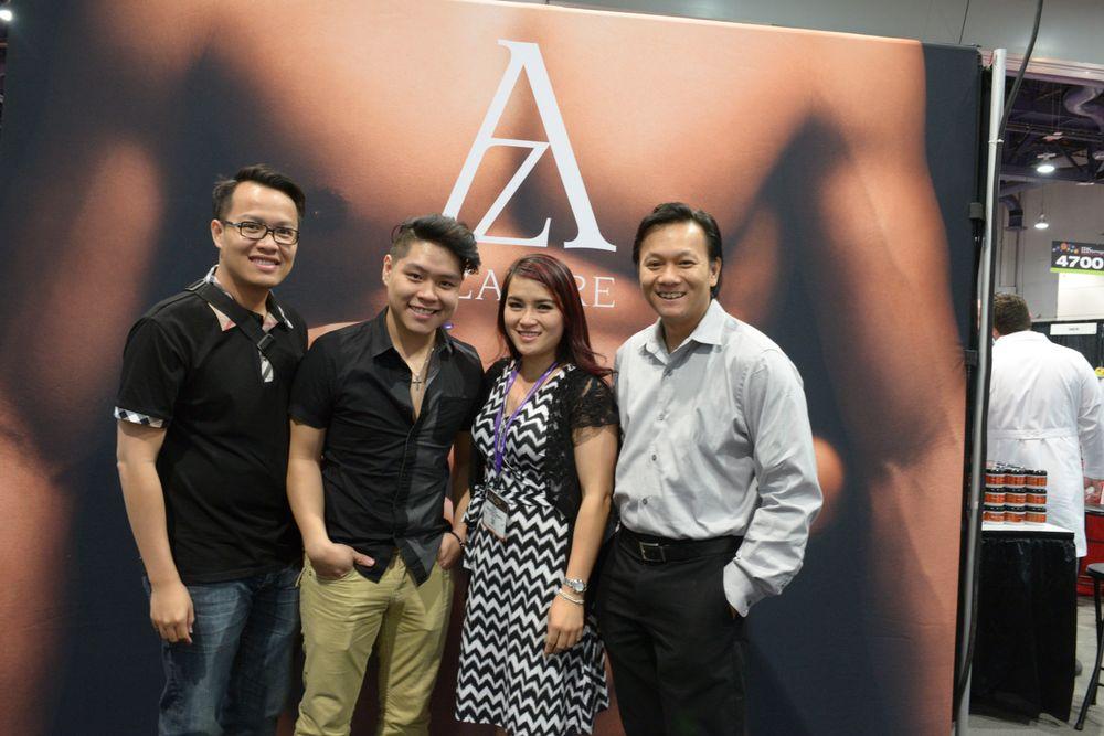 <p>Vincent Nguyen, Bryan Vu, Nancy Tran, and NTNA Top 12 S.3 contestant Tan Nguyen</p>