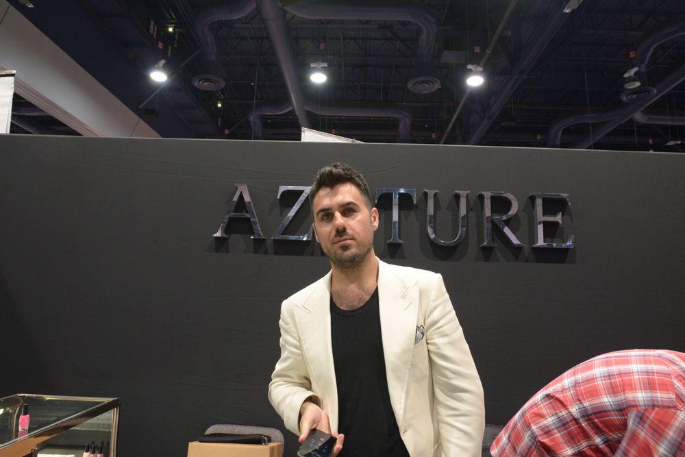 <p>Azature founder Azature Pogosian</p>