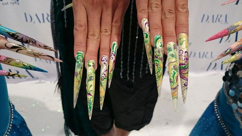 <p>Close-up of nails using Dara Inc. products</p>