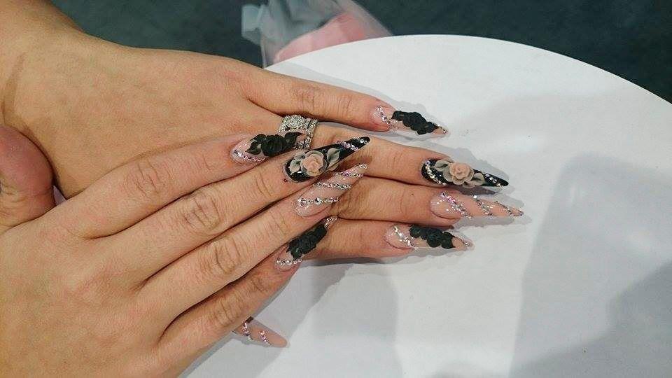 """<p>Nails by Christrio's <a href=""""http://www.instagram.com/nails_by_ylianne"""">Ylianne Maldonado</a></p>"""