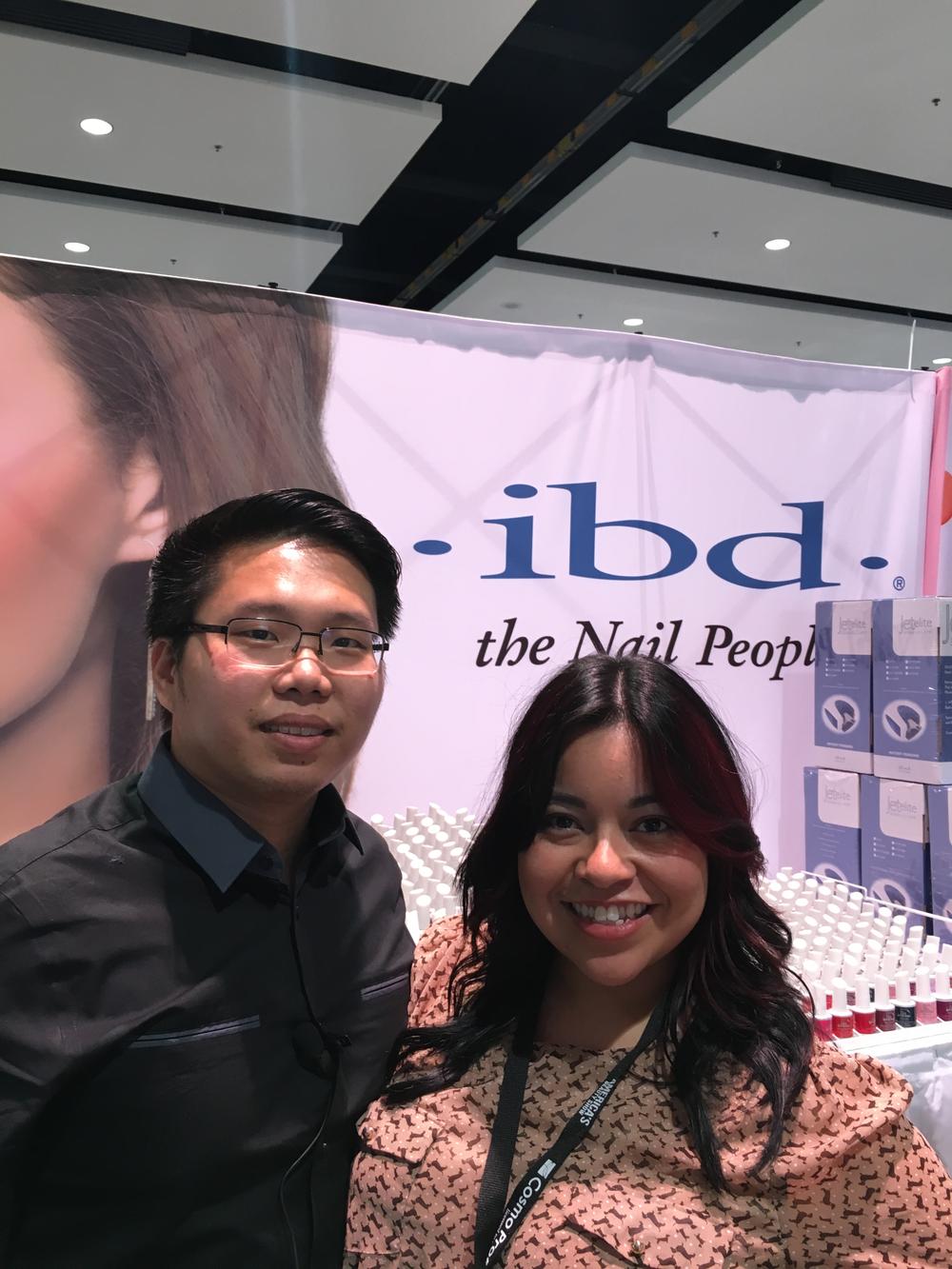 <p>NAILS' associate editor Sigourney Nu&ntilde;ez with IBD's Kevin Huy Phan&nbsp;</p>