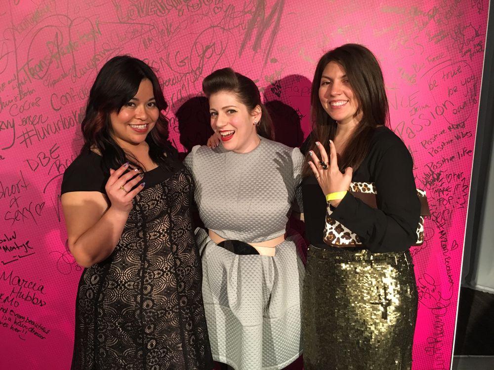 <p>NAILS' associate editor Sigourney Nu&ntilde;ez, Miss Pop, and NAILS' senior editor Beth Livesay</p>