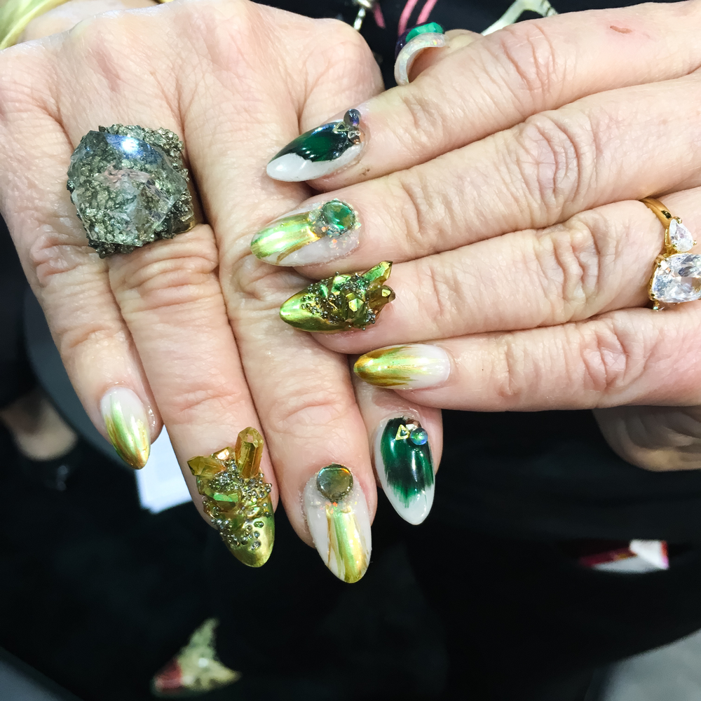 <p>Nails by Torie Bastian for Athena Elliot&nbsp;</p>