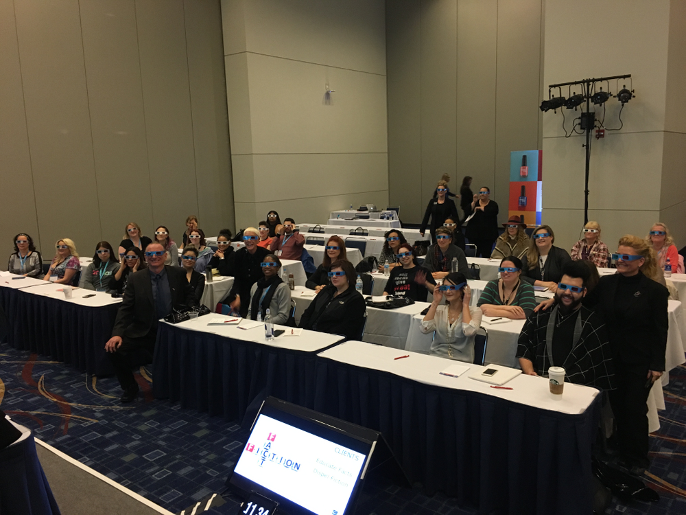 <p>CND's troubleshooting class featured 3-D nail images that required attendees to get interactive</p>