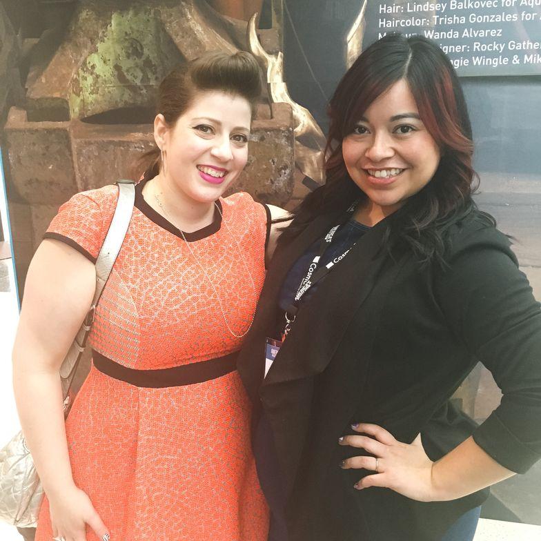 <p>Miss Pop and&nbsp;NAILS' associate editor Sigourney Nu&ntilde;ez</p>