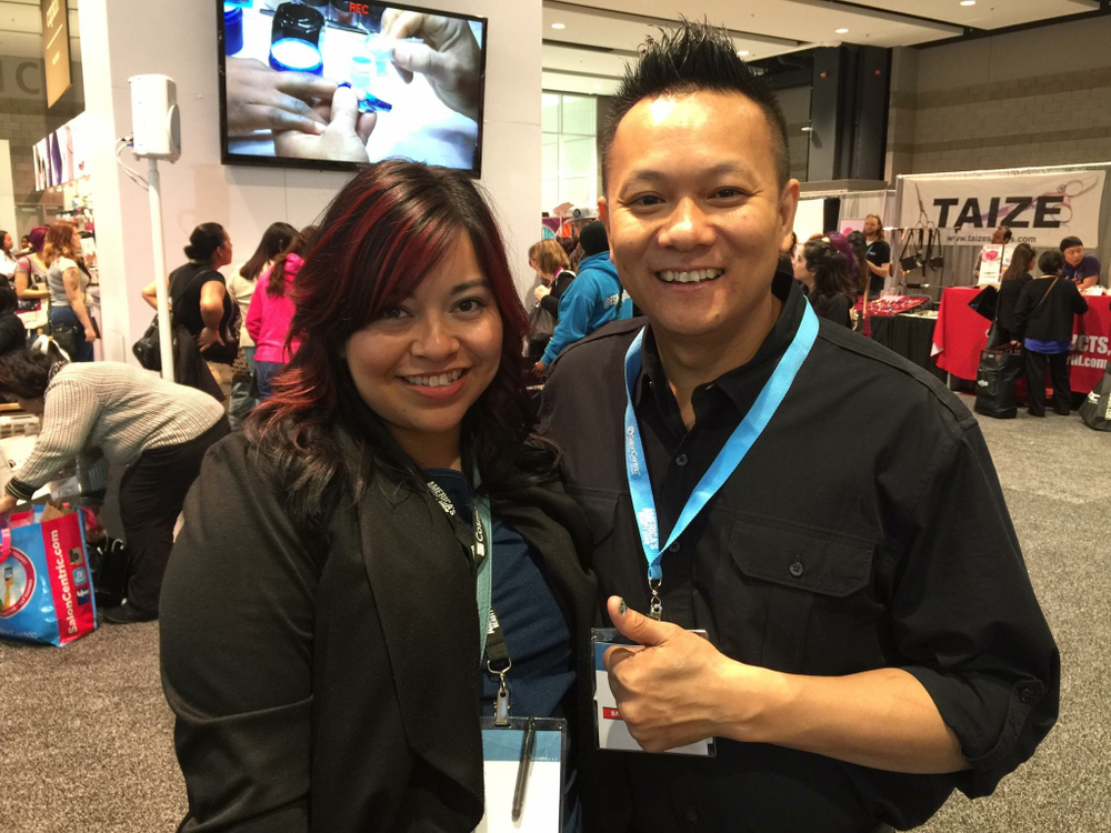<p>NAILS' associate editor Sigourney Nu&ntilde;ez with IBD's Tan Nguyen</p>