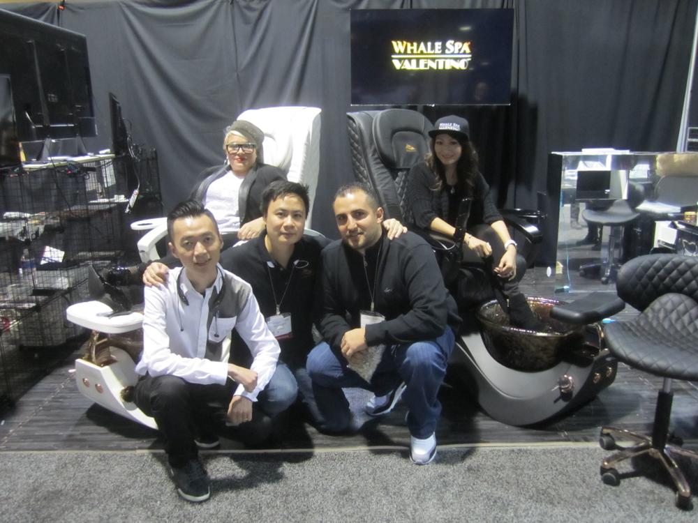 <p>Whale Spa and Valentino Body Pure's Naja Rickette, Mychi Vo, Huy Huynh, Johnny Ngo, and David Anthony</p>