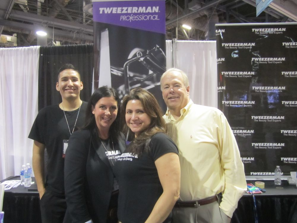 <p>Tweezerman's Joseph Apac, Celes Ybarna, Sylvia Clark, and Ken Dishon</p>