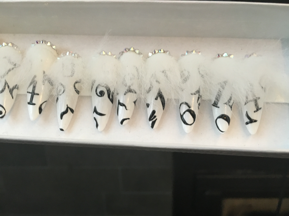 <p>Lauren Wireman made these nails using feathers for The Blonds</p>