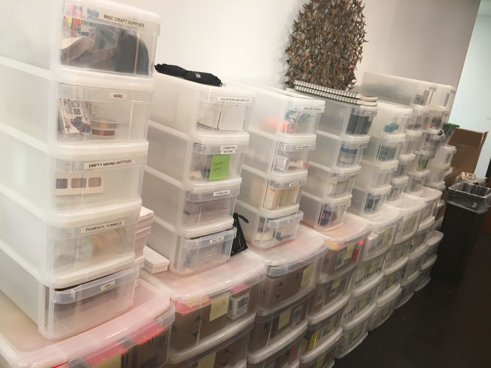 <p>All the supplies CND needs to create NYFW nails are sent weeks ahead</p>