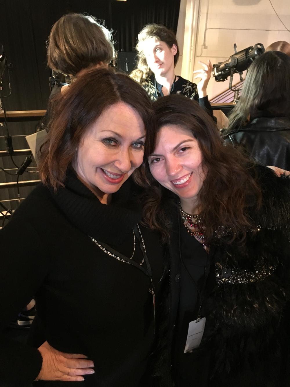 <p>Me and Deborah Lippmann, who came to NYFW fresh off working the Grammys!</p>
