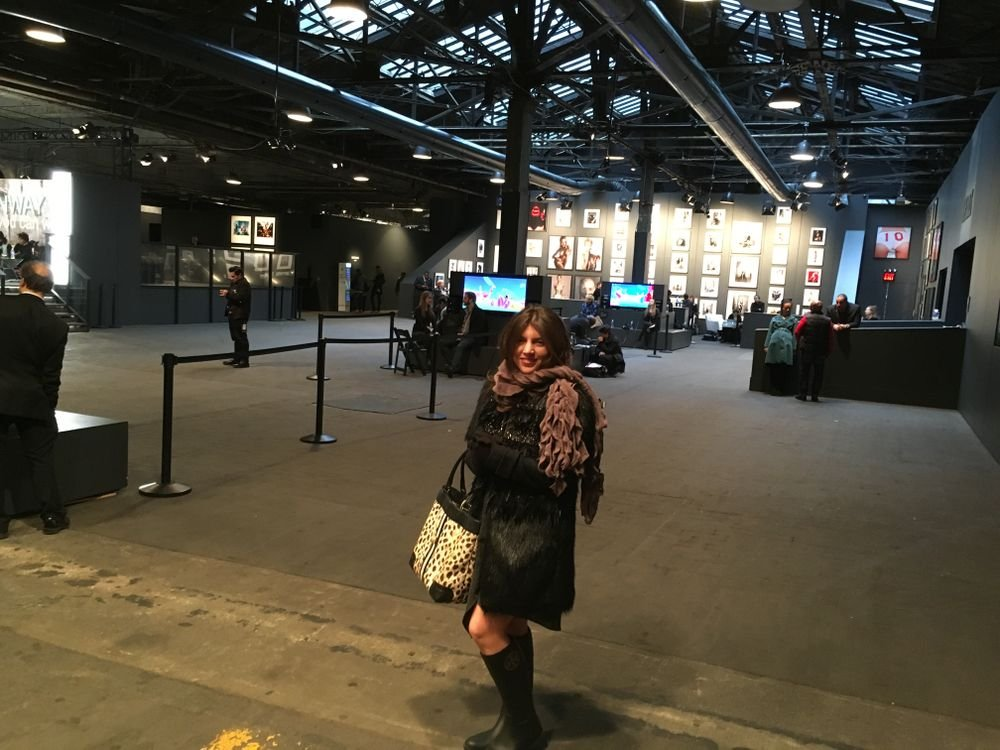 <p>Inside NYFW at Moynihan Station</p>