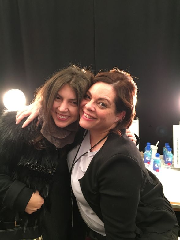 <p>Me and Naomi Gonzalez, nail lead for Zoya.</p>