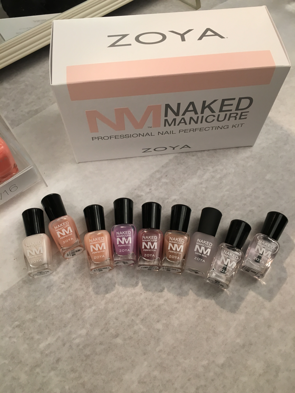 <p>Zoya's Naked Manicure was the line of choice at Marchesa</p>