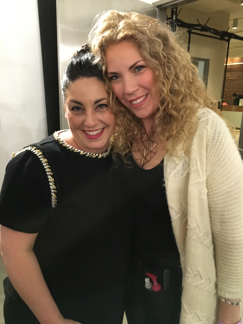 <p>CND education manager Roxanne Valinoti and artist in residence Torie Bastian</p>