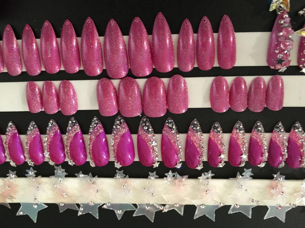 <p>Nail art for The Blonds by CND</p>