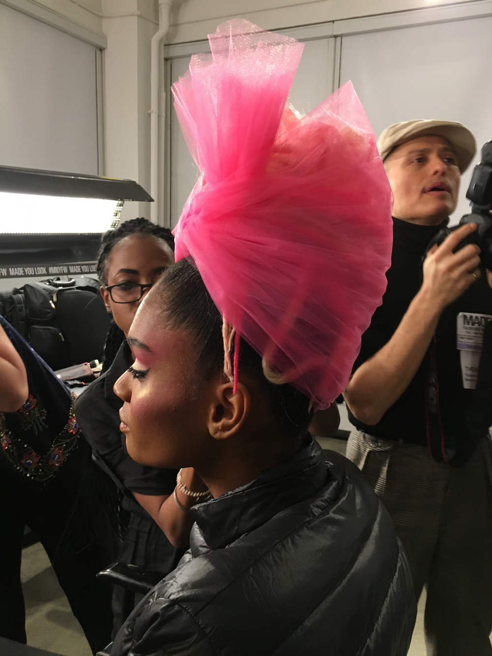<p>Hair look for The Blonds</p>