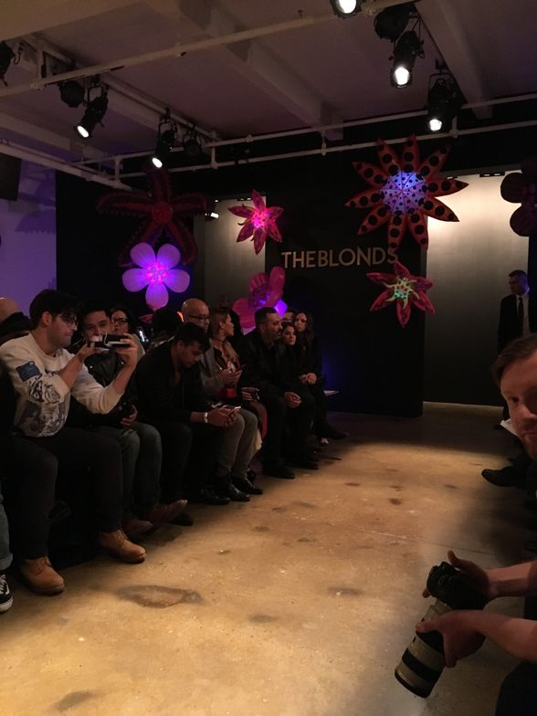 <p>Before the Blonds show begins</p>