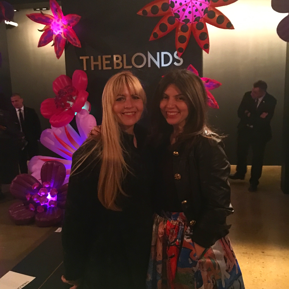 <p>Me and Modern Salon's Beauty and Fashion Director Maggie Mulhern (left) at The Blonds show Wednesday night</p>