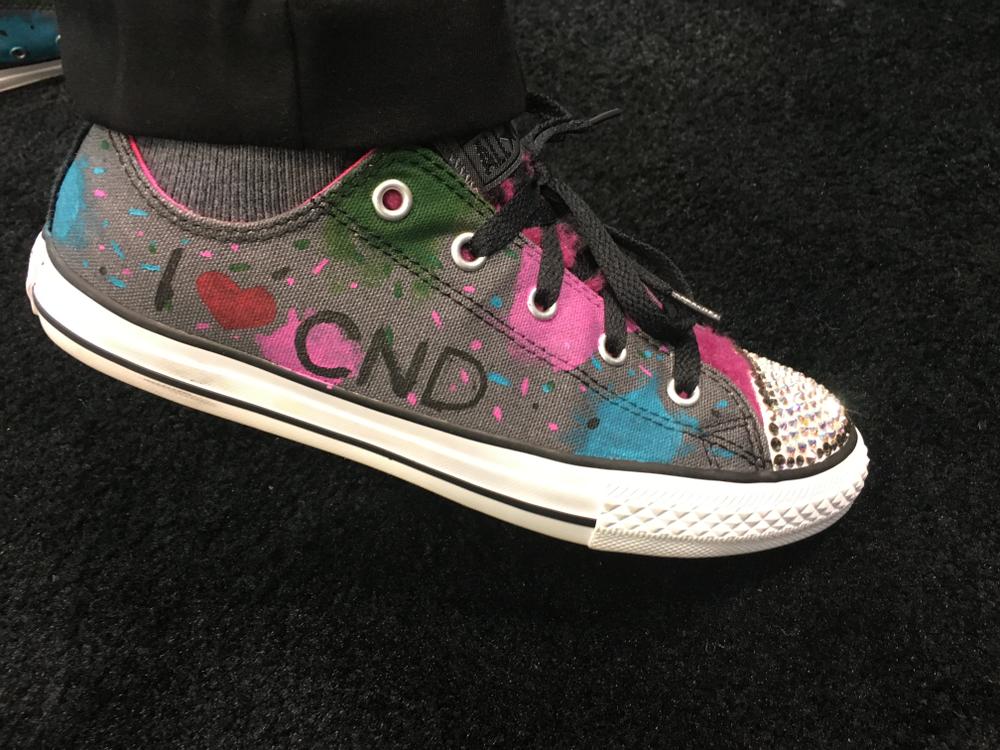 <p>Nea Hatcher's CND kicks were decked out by her son!</p>