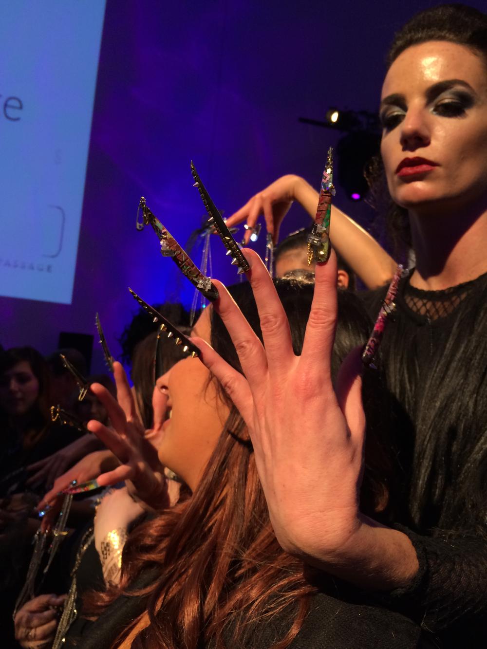 <p>Ashley Craig's nail creation</p>