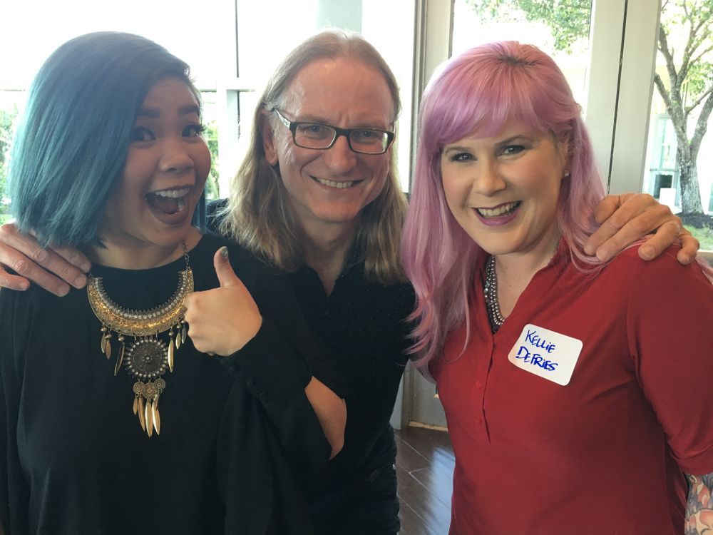<p>From left: Winnie Huang, Doug Schoon, and Kelly DeFries</p>