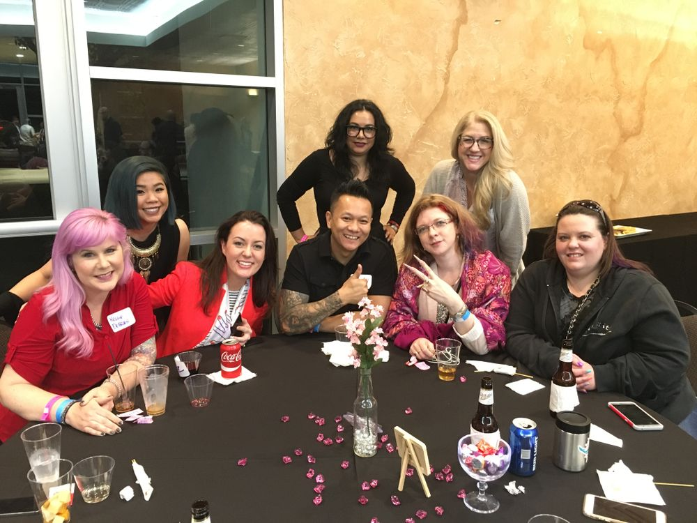 <p>Attendees of the Associated Nail Professional's Tech Talk event</p>
