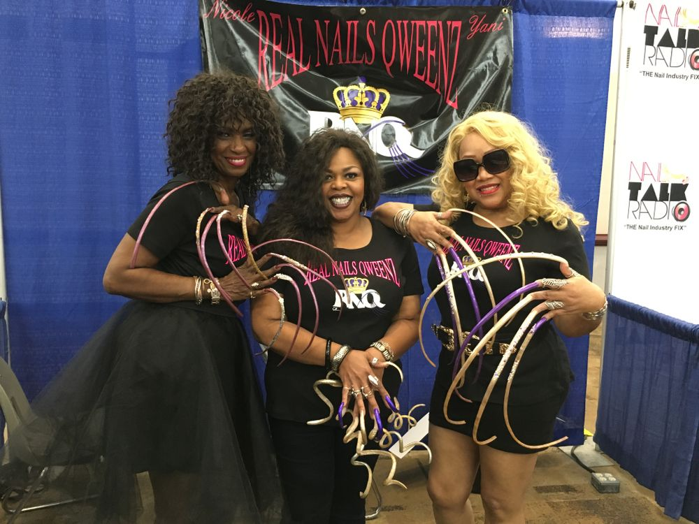 <p>Real Nail Qweenz (from left) Ayanna Williams, Lena Cole, and Edith Graham, have been featured in Ripley&rsquo;s Believe or Not for their long natural nails.</p>