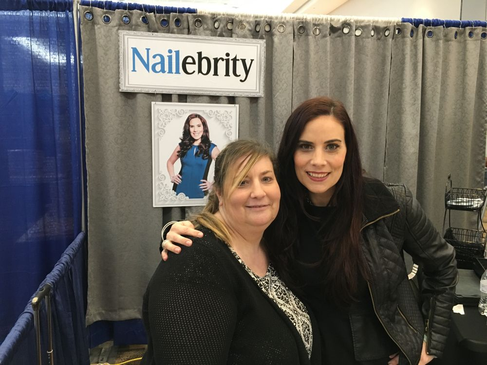 <p>Nailebrity's Janis Morin (left) and Elaine Watson&nbsp;</p>