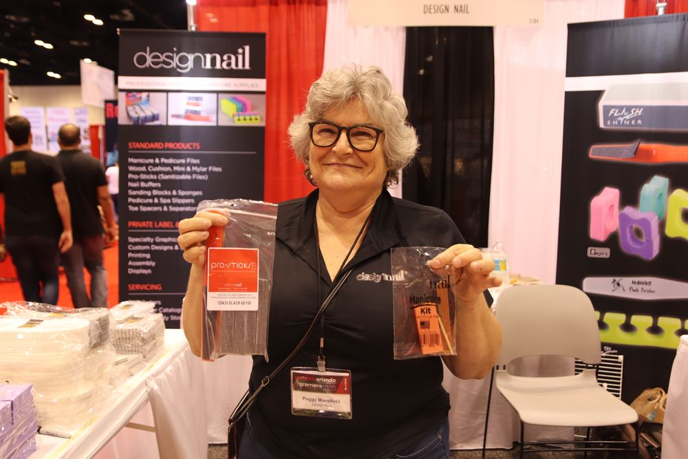 <p>Peggy Mansfield of DesignNail talked about her genuine passion for the products she sells.</p>